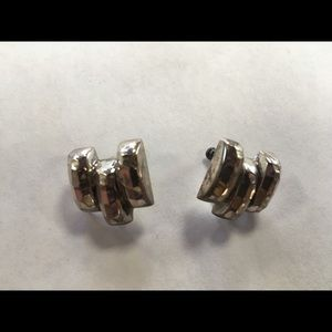 Jewelry - Vintage Sterling Silver Screw Back Earrings, MO323